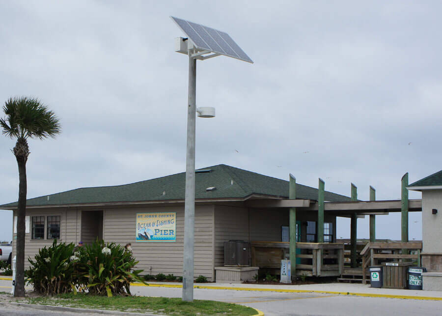 St Augustine Beach Pier Park Stand Alone Solar Lighting Systems