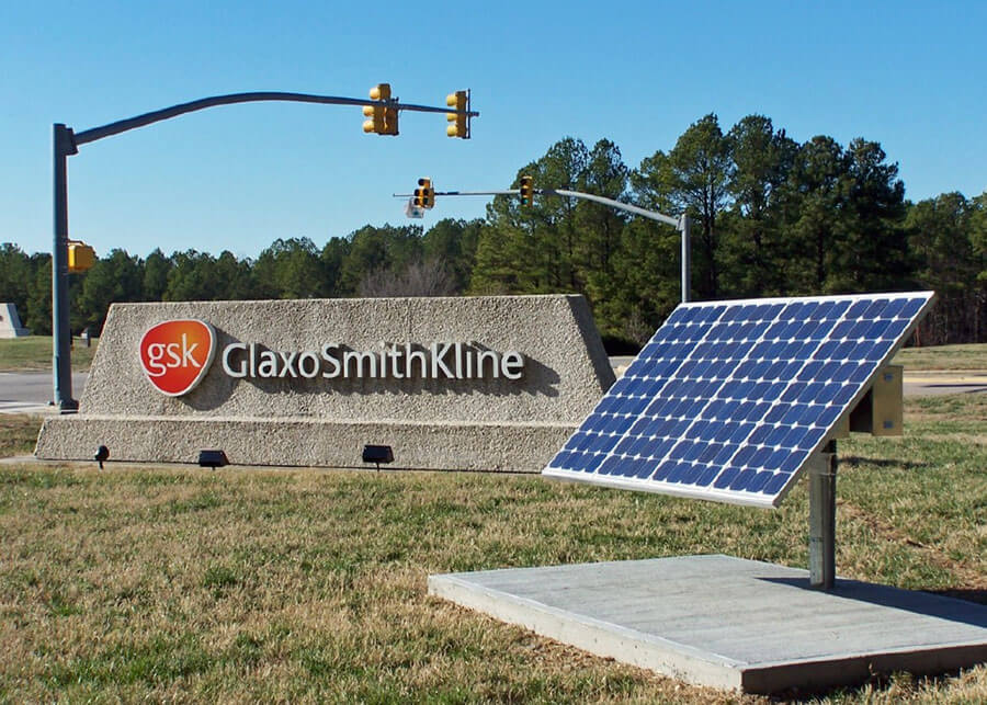 Solar Sign Lighting Glaxo Smith Kline