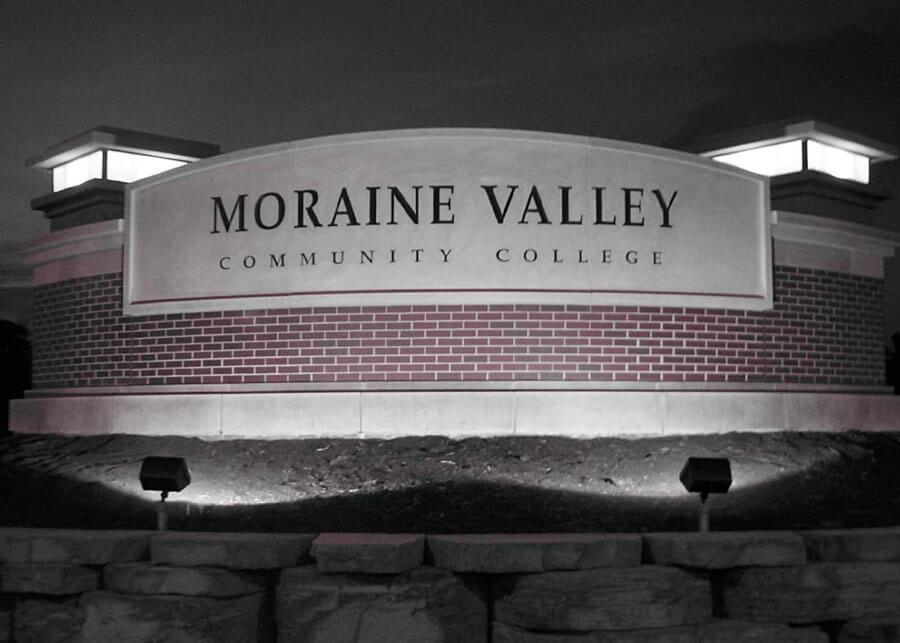 Solar Monument Sign Moraine Valley Community College