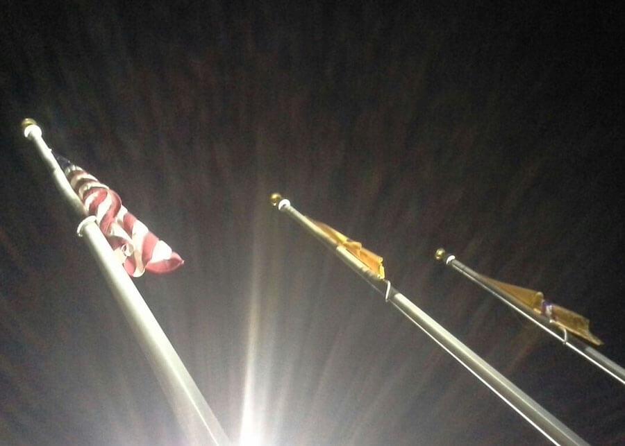 Strauss Union Pacific Solar Flag Pole Lighting