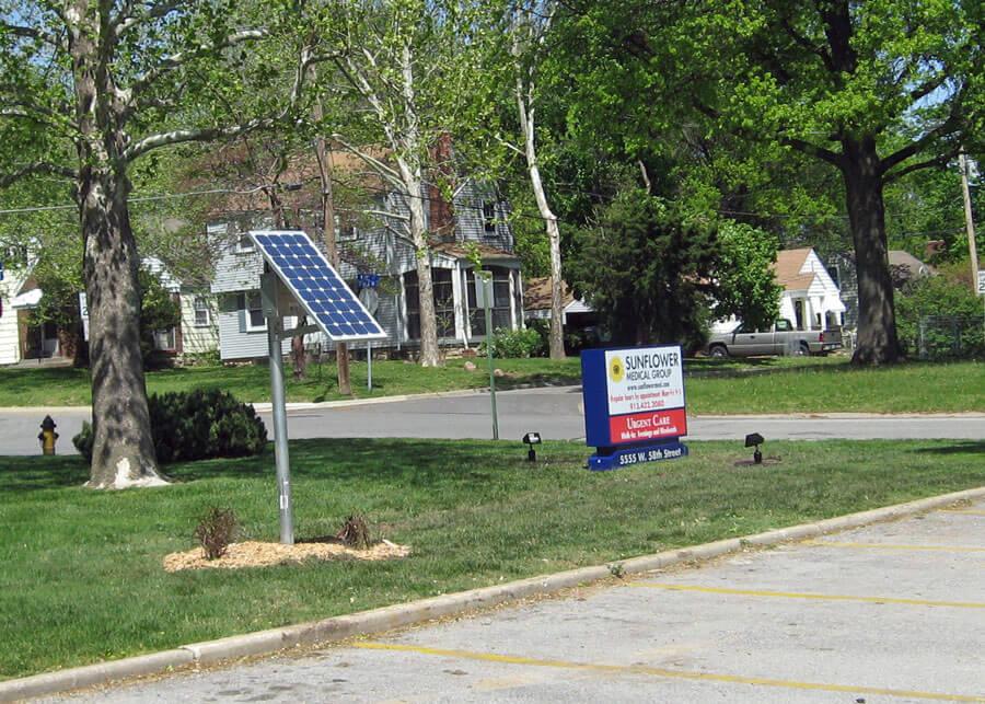 Solar Sign Lighting Sunflower Medical