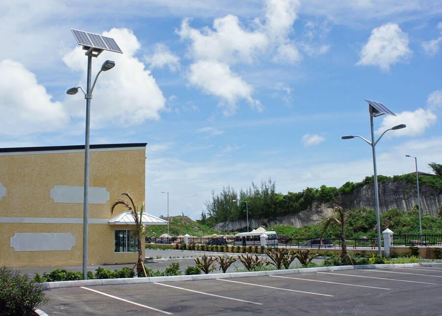 Double Solar Parking Lot Lights