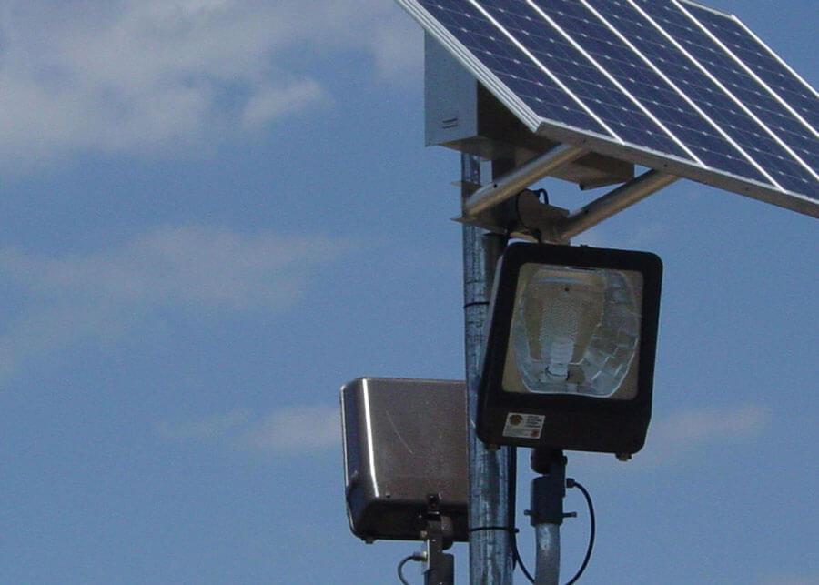 106th ARQ Portable Solar Security Lights