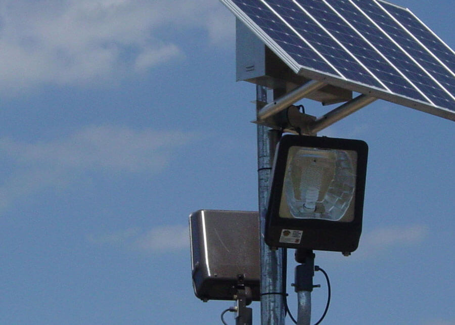 106th ARQ Portable Solar Security Lights