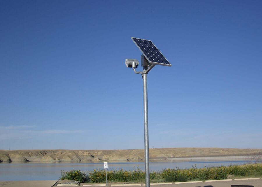 BOR Tibor Reserve Solar Security Flood Light for Boat Ramp