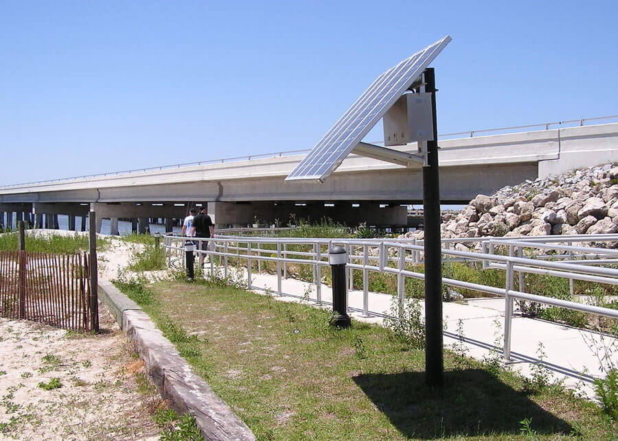 Solar Bollard Pathway Lighting Talbot Island