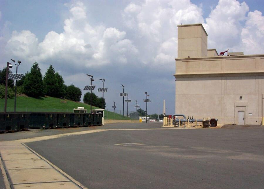 Pentagon Perimeter Solar Security Lights