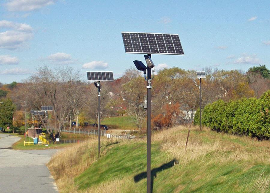 Solar Outdoor Security Lighting Northern Mfg Facilty