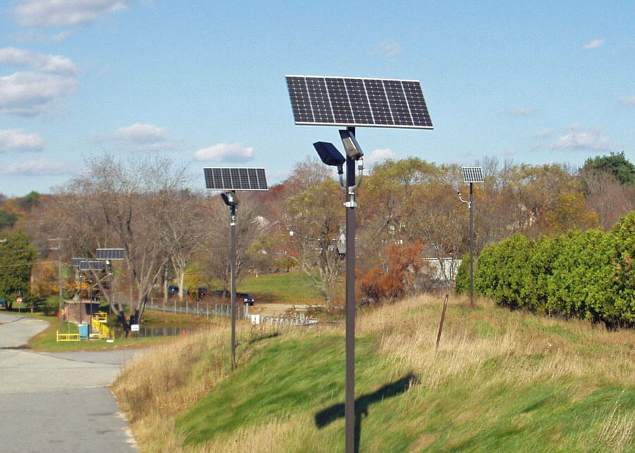 Solar Outdoor Security Lighting Northern Mfg Facilty