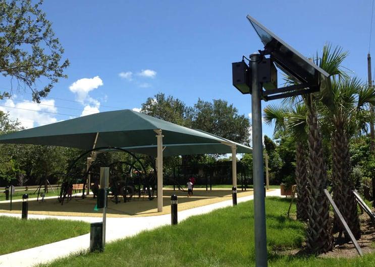 Solar Powered LED Bollard Lights for Walkways and Pathways