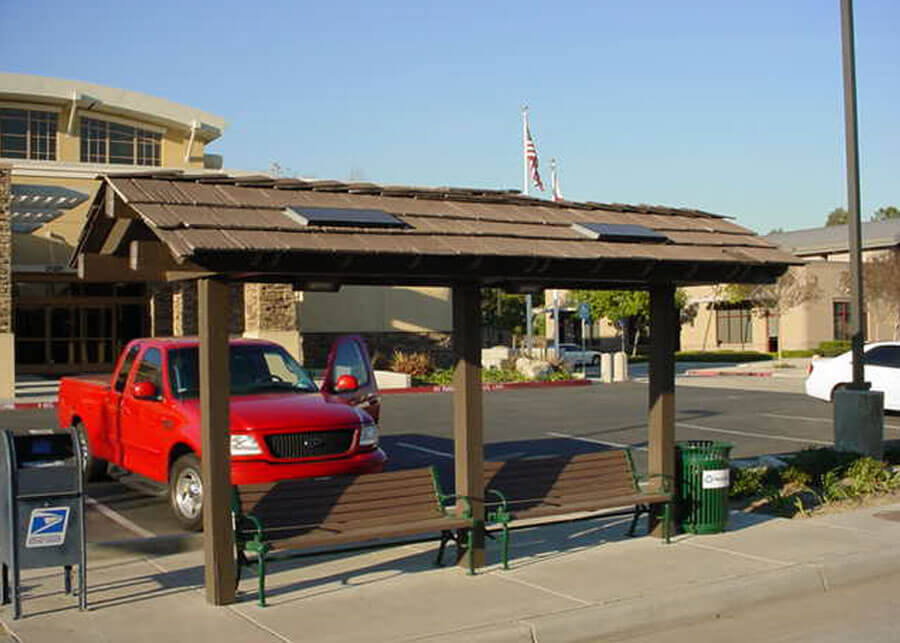 Solar Bus Shelter Lighting City of Walnut
