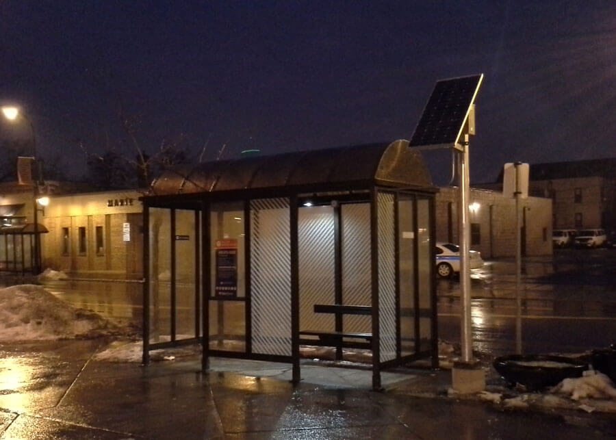 Solar Bus Shelter Lighting Local Transit Authority