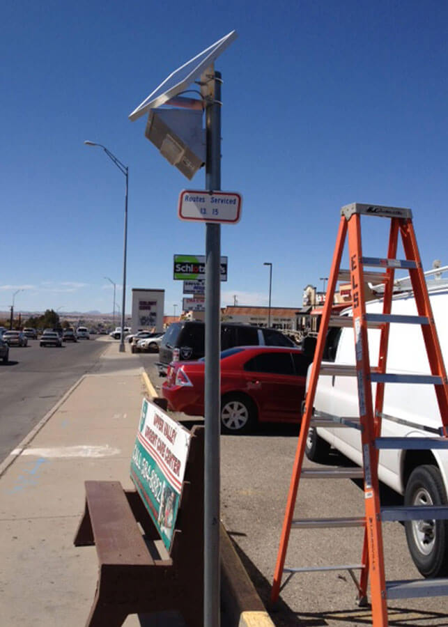 Solar Bus Stop Lighting Local Transit Authority