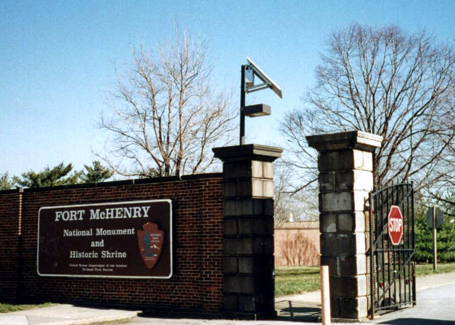 Fort McHenry Entrance Solar Light System