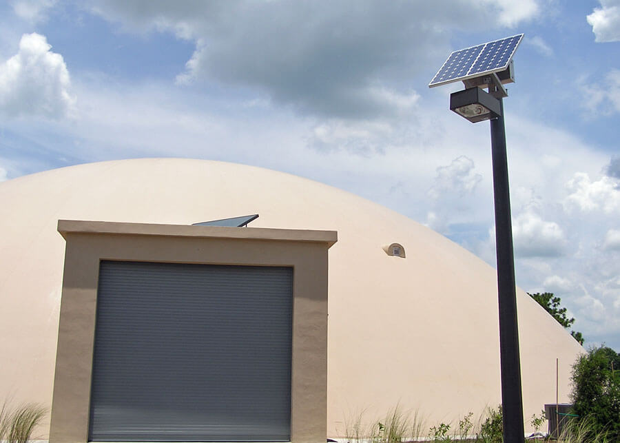 ABC/Golden Sands Domes Solar Powered Parking Lot Lights