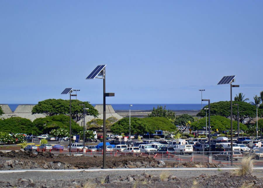 Airport Solar Parking Lot Lighting Systems Kona HI