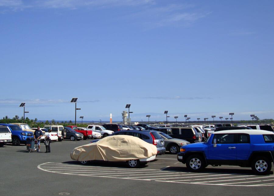 Kona Airport Solar Car Park Lighting