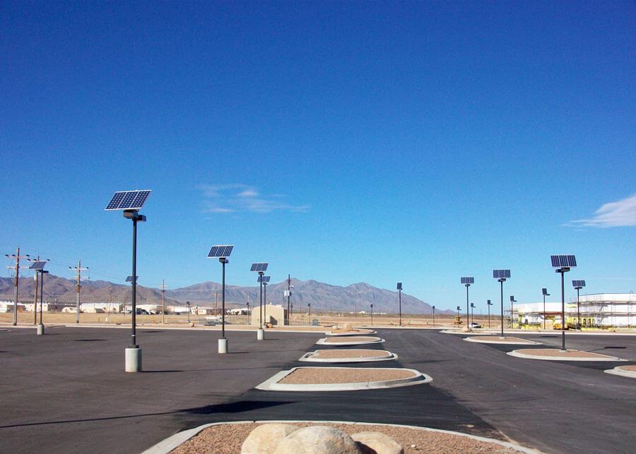 US Military Facility  Solar Parking Lot Lighting
