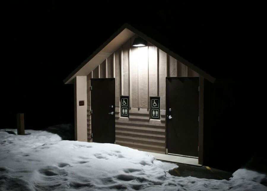 Solar Restroom Lighting Lucky Peak Dam Park