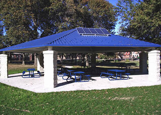 SolarLSQ Canopy LED Solar Lighting System
