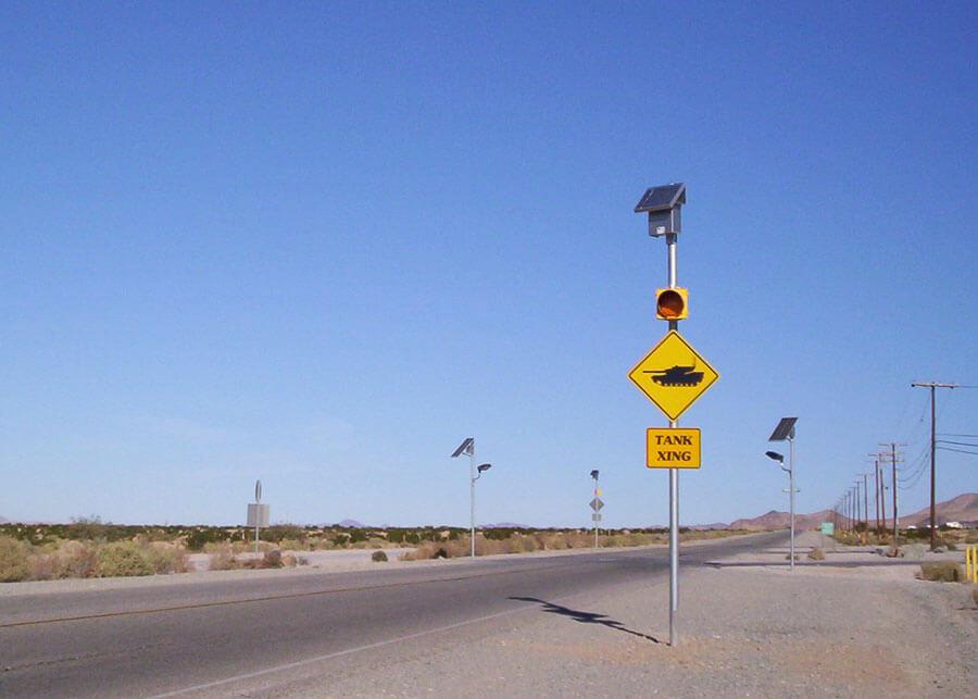 29 Palms Solar Warning Flashers