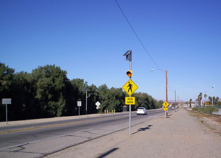Solar Powered Traffic Flashers