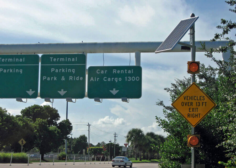 Solar Traffic Flasher Palm Beach International Airport