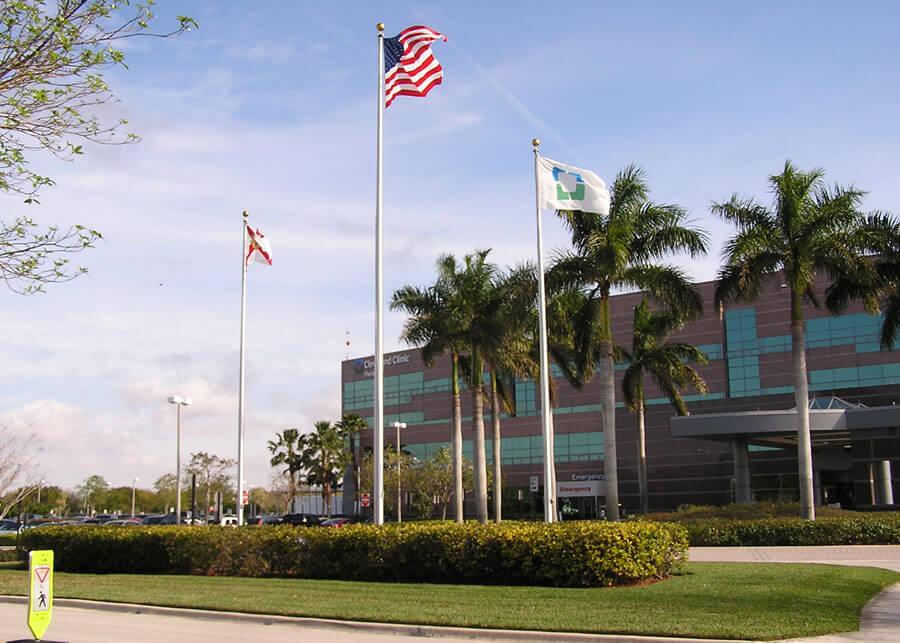 Solar Flagpole Lighting Cleveland Clinic