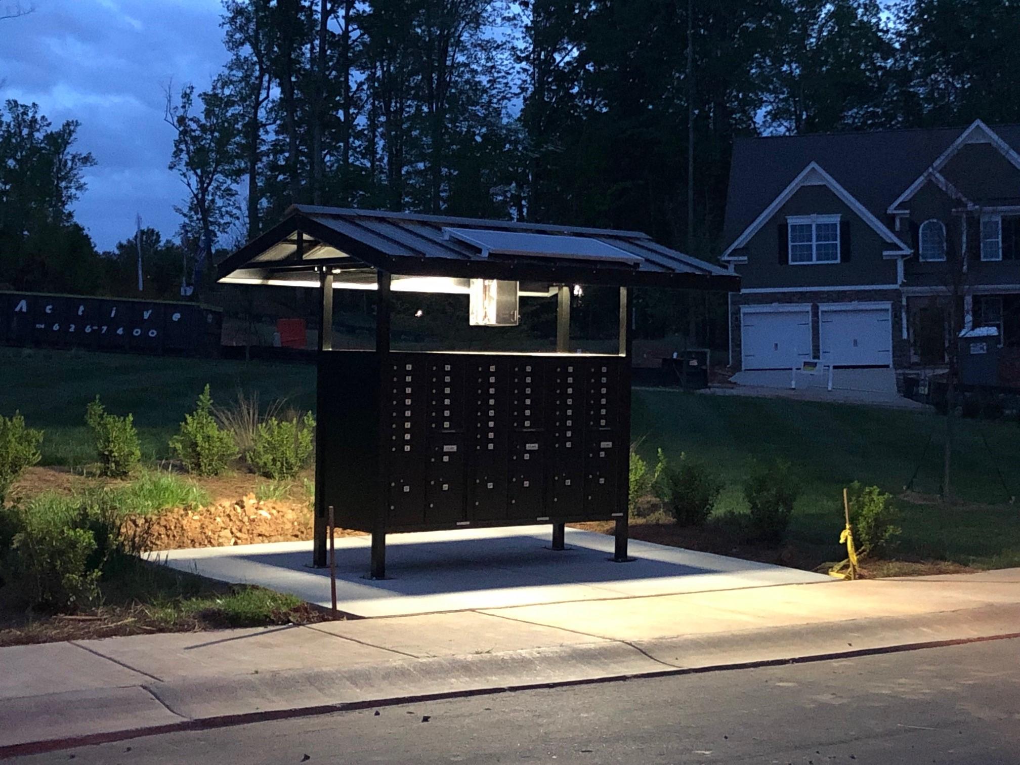 cypress solar mailbox lights