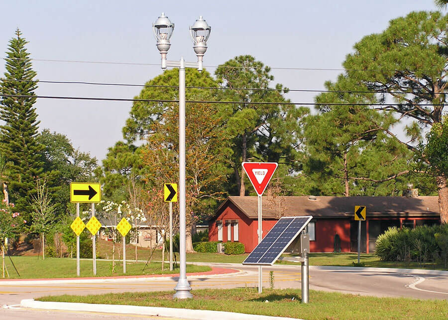 Solar LED Lamp Post Lights