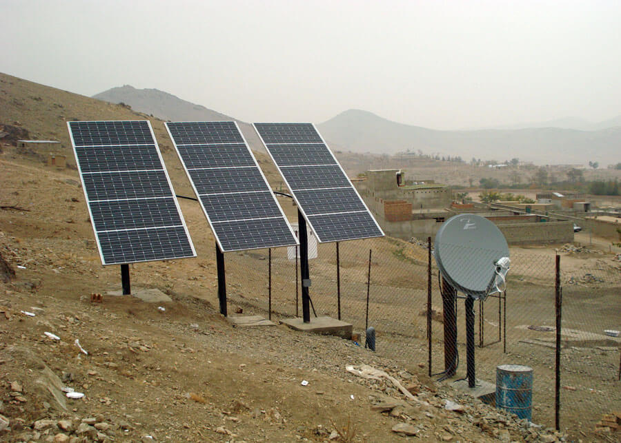 Seismic Station Solar Powered