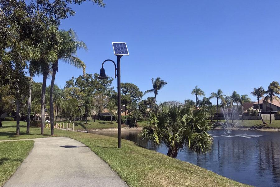 Solar Walkway Lighting for Gardens of Woodberry