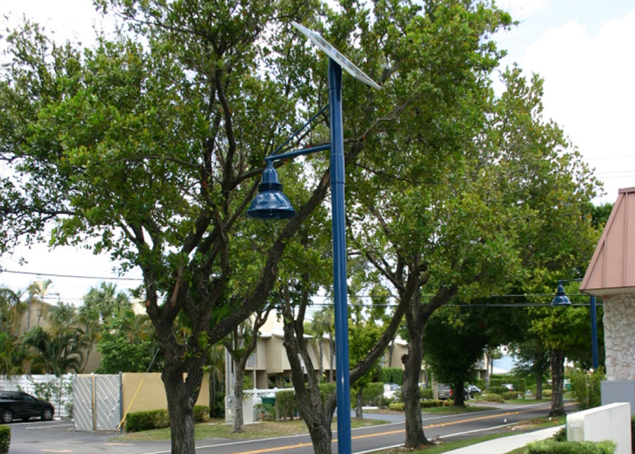 No Shade for Solar Lighting Systems