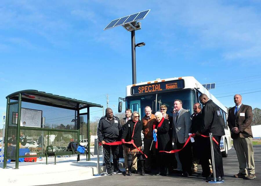 Oconee Park & Ride GA Solar LED Parking Lot Lights