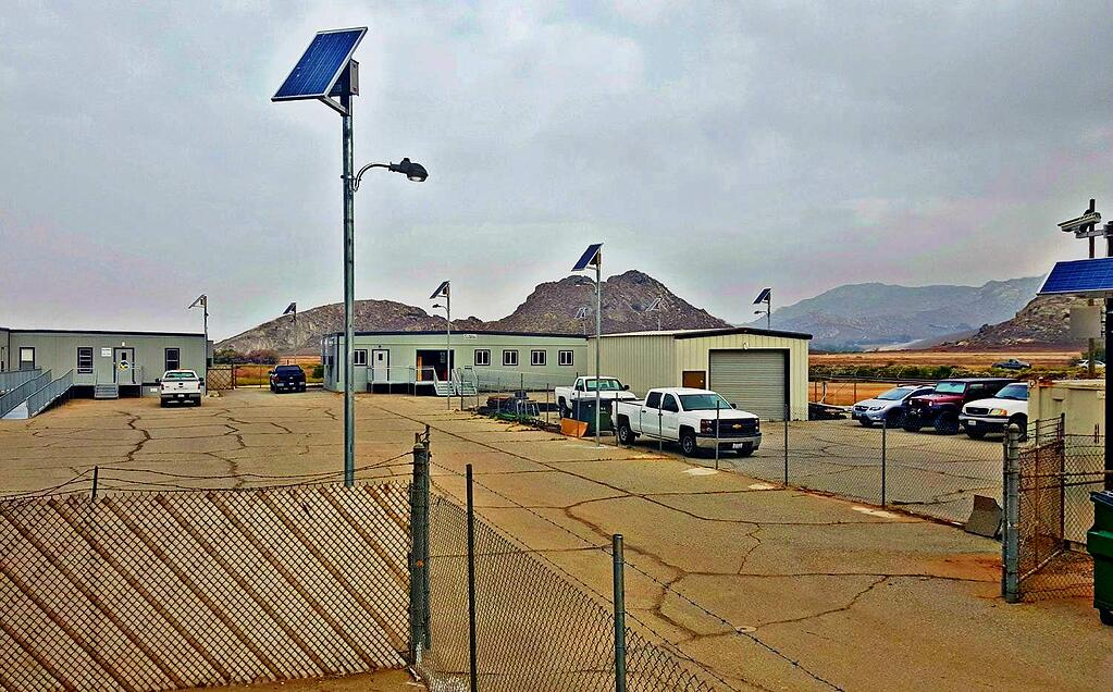 Perris Dam Solar Powered Area Lights