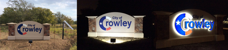 City of Crowley Solar Sign Light Outdoor