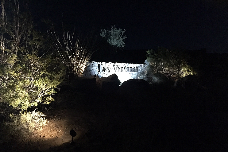Las Ventanas HOA Solar Sign Light and Solar Landscape Flood Light