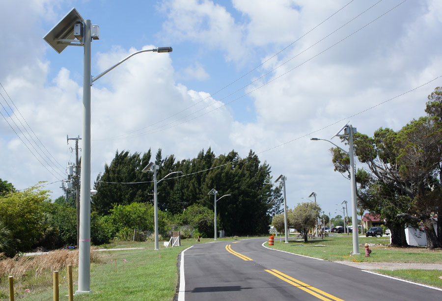 Martin County Airport Day Solar Street Lights
