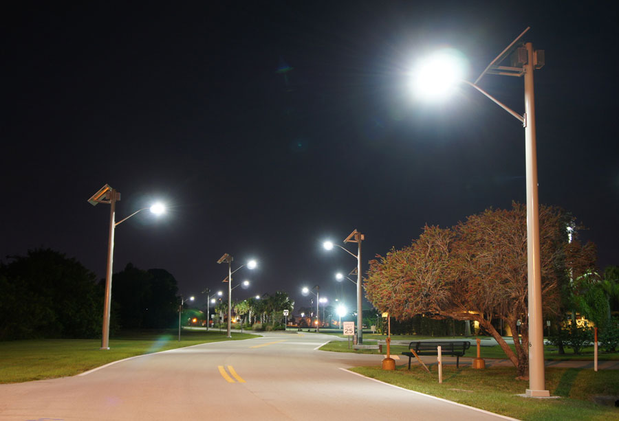 Martin County Airport Night Solar Street Lights
