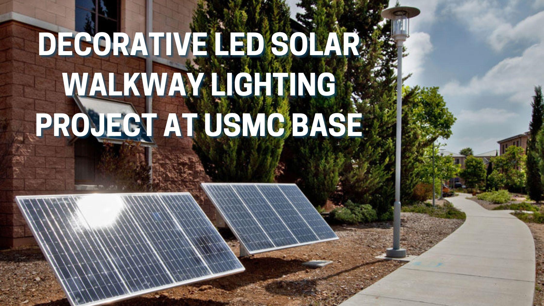 LED Solar Walkway Lighting