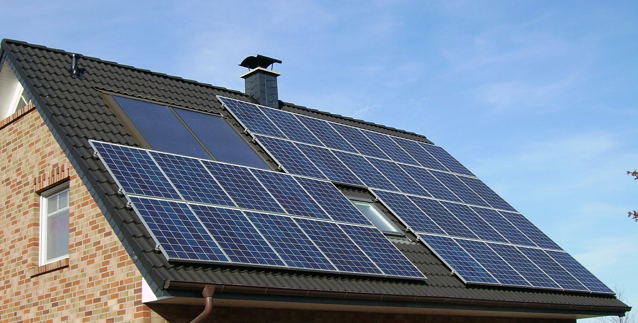 Solar Power System Installed on Roof