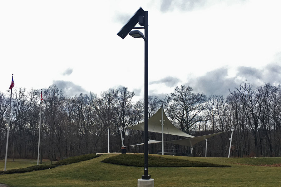 Solar Lighting Off Grid for Parking Lot Ohio