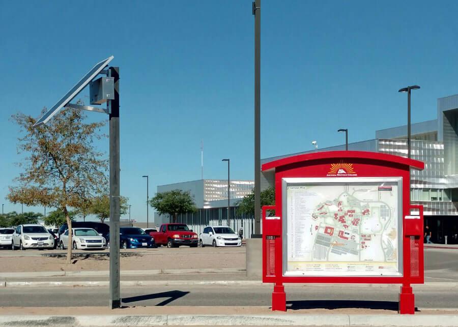 Arizona Western College Solar Kiosk Sign Light