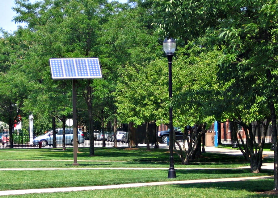 Decorative LED Solar Lights DePaul University