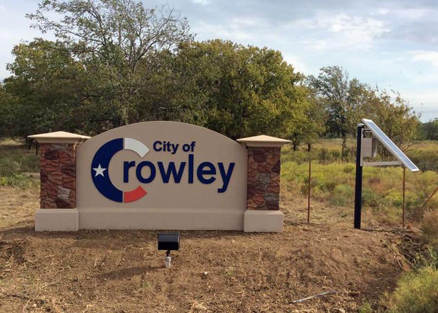 Crowley Solar LED Flood Light for Sign