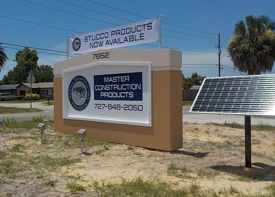 Master Construction Solar Flood Sign Lights