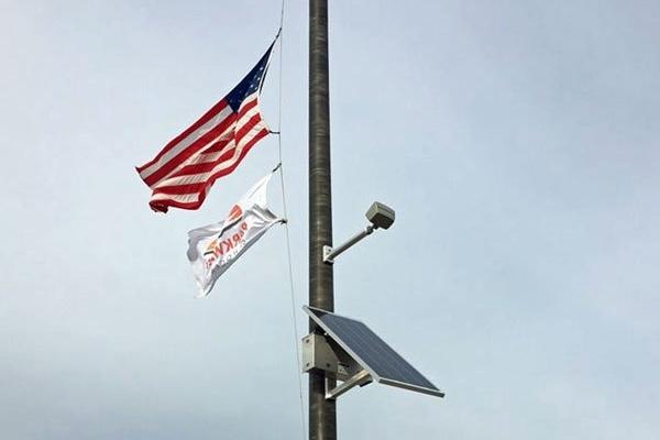 Solar Flagpole Light Parkway South High School