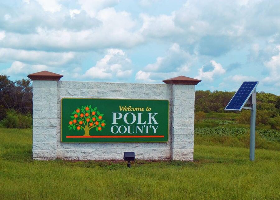 Polk County Rural Solar LED Sign Lighting System