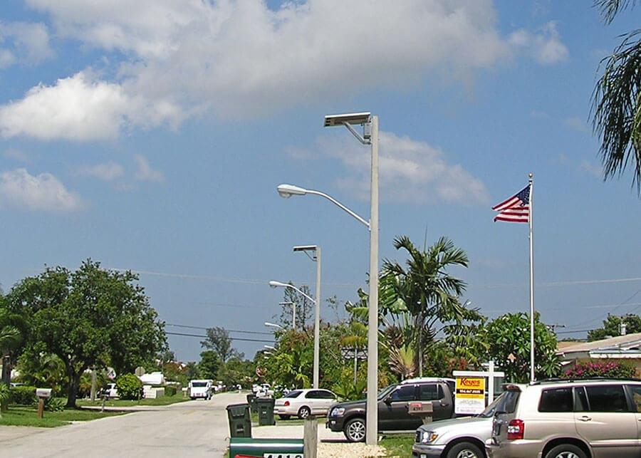 Dania Beach Solar LED Hurricane Rated Street Light