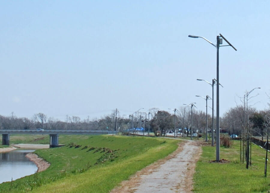 Harris County Solar Bike Path Lighting Systems